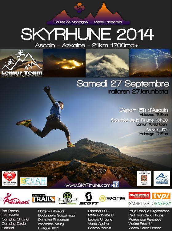 Affiche SKYRHUNE 2014 Imprimée Réduite